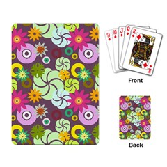 Floral Seamless Pattern Vector Playing Card by Nexatart