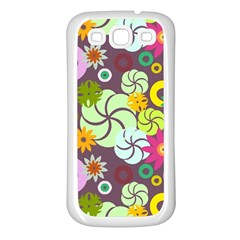 Floral Seamless Pattern Vector Samsung Galaxy S3 Back Case (white) by Nexatart