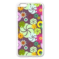 Floral Seamless Pattern Vector Apple Iphone 6 Plus/6s Plus Enamel White Case by Nexatart