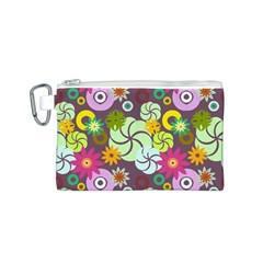 Floral Seamless Pattern Vector Canvas Cosmetic Bag (s) by Nexatart