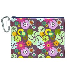 Floral Seamless Pattern Vector Canvas Cosmetic Bag (xl) by Nexatart