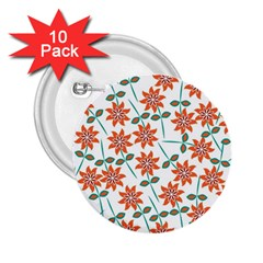 Floral Seamless Pattern Vector 2 25  Buttons (10 Pack)  by Nexatart
