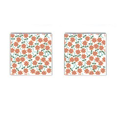 Floral Seamless Pattern Vector Cufflinks (square) by Nexatart