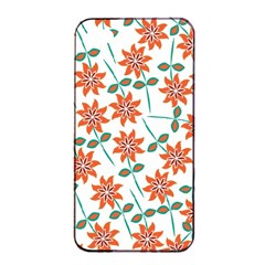 Floral Seamless Pattern Vector Apple iPhone 4/4s Seamless Case (Black)