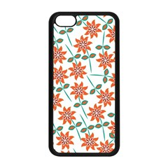 Floral Seamless Pattern Vector Apple Iphone 5c Seamless Case (black) by Nexatart