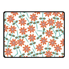 Floral Seamless Pattern Vector Double Sided Fleece Blanket (small)  by Nexatart