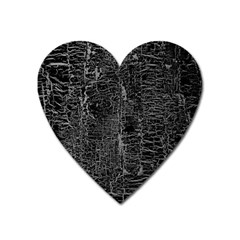 Old Black Background Heart Magnet by Nexatart