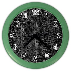 Old Black Background Color Wall Clocks by Nexatart