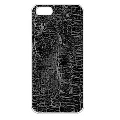 Old Black Background Apple iPhone 5 Seamless Case (White)