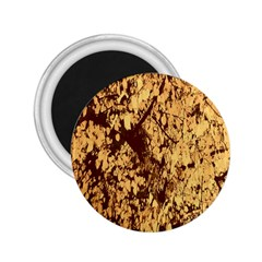 Abstract Brachiate Structure Yellow And Black Dendritic Pattern 2.25  Magnets