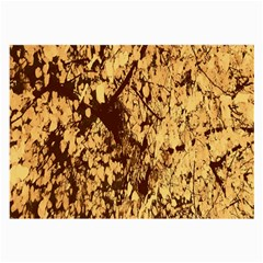 Abstract Brachiate Structure Yellow And Black Dendritic Pattern Large Glasses Cloth (2 Side) by Nexatart