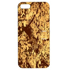 Abstract Brachiate Structure Yellow And Black Dendritic Pattern Apple Iphone 5 Hardshell Case With Stand by Nexatart