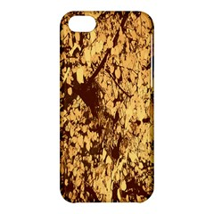 Abstract Brachiate Structure Yellow And Black Dendritic Pattern Apple Iphone 5c Hardshell Case by Nexatart