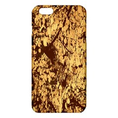 Abstract Brachiate Structure Yellow And Black Dendritic Pattern Iphone 6 Plus/6s Plus Tpu Case by Nexatart