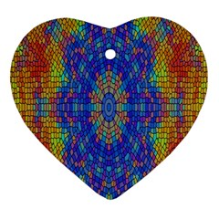 A Creative Colorful Backgroun Heart Ornament (two Sides) by Nexatart