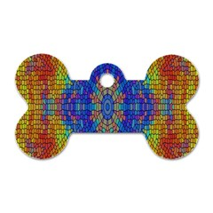 A Creative Colorful Backgroun Dog Tag Bone (two Sides) by Nexatart