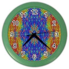 A Creative Colorful Backgroun Color Wall Clocks by Nexatart