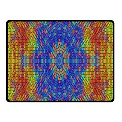 A Creative Colorful Backgroun Double Sided Fleece Blanket (Small)  by Nexatart