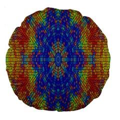 A Creative Colorful Backgroun Large 18  Premium Flano Round Cushions by Nexatart