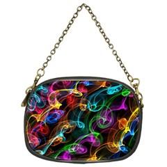 Rainbow Ribbon Swirls Digitally Created Colourful Chain Purses (one Side)  by Nexatart