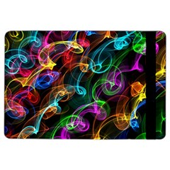 Rainbow Ribbon Swirls Digitally Created Colourful Ipad Air 2 Flip by Nexatart