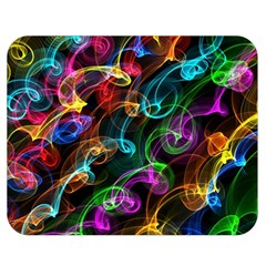 Rainbow Ribbon Swirls Digitally Created Colourful Double Sided Flano Blanket (medium)  by Nexatart