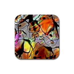 Abstract Pattern Texture Rubber Square Coaster (4 Pack)  by Nexatart