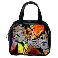 Abstract Pattern Texture Classic Handbags (one Side) by Nexatart