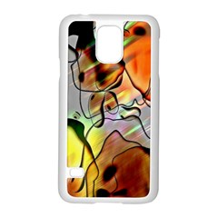 Abstract Pattern Texture Samsung Galaxy S5 Case (white) by Nexatart