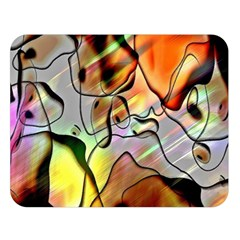 Abstract Pattern Texture Double Sided Flano Blanket (large)  by Nexatart