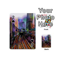 Downtown Chicago City Playing Cards 54 (mini)  by Nexatart