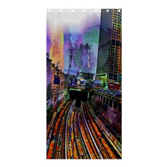 Downtown Chicago City Shower Curtain 36  X 72  (stall)  by Nexatart