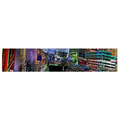 Downtown Chicago City Flano Scarf (small) by Nexatart