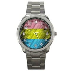 Brickwall Sport Metal Watch by Nexatart