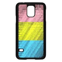Brickwall Samsung Galaxy S5 Case (black) by Nexatart