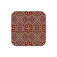 Seamless Pattern Based On Turkish Carpet Pattern Rubber Square Coaster (4 Pack)  by Nexatart
