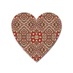 Seamless Pattern Based On Turkish Carpet Pattern Heart Magnet by Nexatart