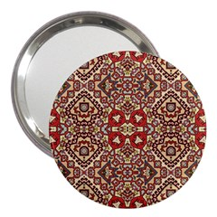Seamless Pattern Based On Turkish Carpet Pattern 3  Handbag Mirrors by Nexatart