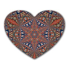 Armenian Carpet In Kaleidoscope Heart Mousepads by Nexatart