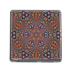Armenian Carpet In Kaleidoscope Memory Card Reader (square)