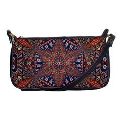 Armenian Carpet In Kaleidoscope Shoulder Clutch Bags by Nexatart