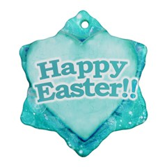 Happy Easter Theme Graphic Snowflake Ornament (two Sides) by dflcprints