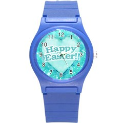 Happy Easter Theme Graphic Round Plastic Sport Watch (s) by dflcprints
