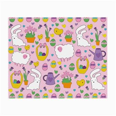 Cute Easter Pattern Small Glasses Cloth by Valentinaart