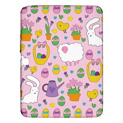 Cute Easter Pattern Samsung Galaxy Tab 3 (10 1 ) P5200 Hardshell Case  by Valentinaart
