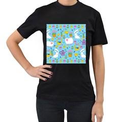 Cute Easter Pattern Women s T Shirt (black) by Valentinaart