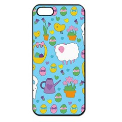 Cute Easter Pattern Apple Iphone 5 Seamless Case (black) by Valentinaart