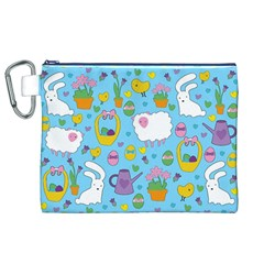 Cute Easter Pattern Canvas Cosmetic Bag (xl) by Valentinaart