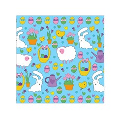 Cute Easter Pattern Small Satin Scarf (square) by Valentinaart