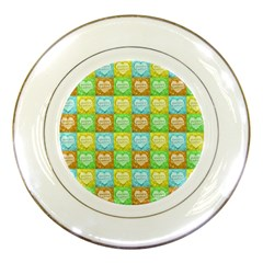 Colorful Happy Easter Theme Pattern Porcelain Plates